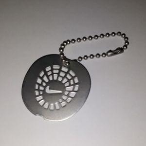 Rare NIKE Silver / Metal 2 part Decorative Key Fob